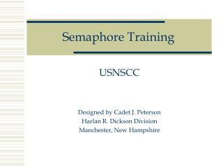 Semaphore Training