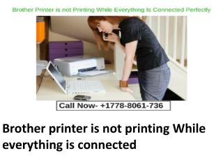 Brother printer is not printing While everything is connected