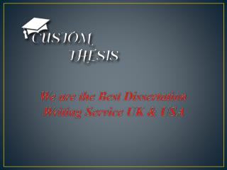 Dissertation Writing Service from Expert Professionals