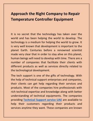 Electronics Repair - Temperature Controller Repair & Equipment
