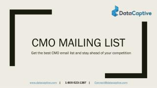 What is the best website to buy CMO email lists?