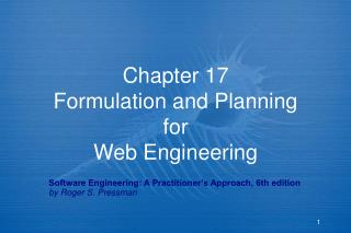 Chapter 17 Formulation and Planning for Web Engineering