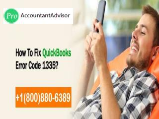 QuickBooks Error Code 1335: How to Fix, Resolve [Easy Solution Steps]
