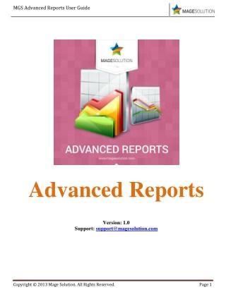 Magento 2 Advanced Reports Guide