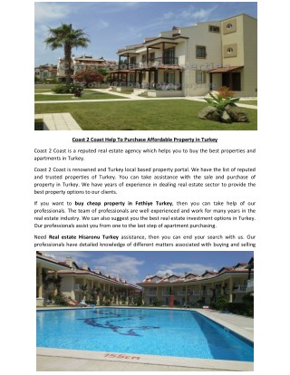 Apartment for sale Calis Turkey