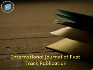 Which Journal Site Has Considered as The Best Innovative Research Journal India?