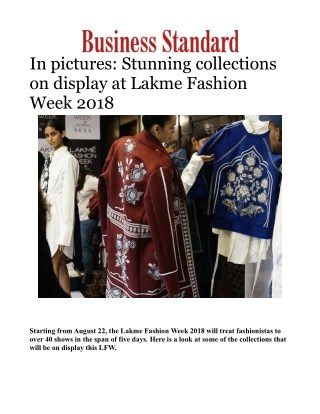 Lakme Fashion Week 2018: Pictures of Stunning collections on display
