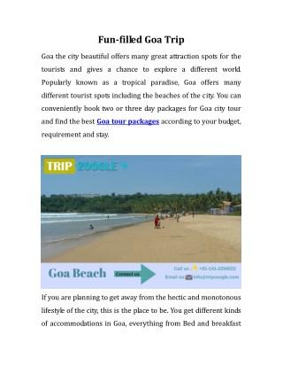 Fun-filled Goa Trip