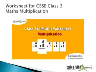 Mental Maths for kids topic is Multiplication | Worksheet for Class 3 Maths