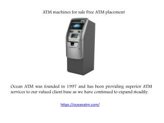 ATM machines for sale | Free ATM placement