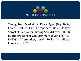 Growth of Direct Injection Engines to Fuel the Demand for Timing Belt Market