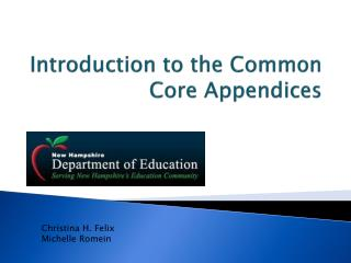 Introduction to the Common Core Appendices