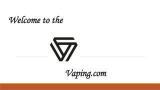 Vaping- Nicotine Salts