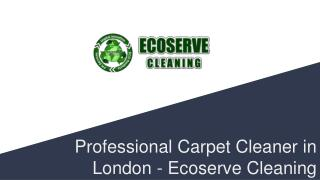Professional Carpet Cleaner in London - Ecoserve Cleaning