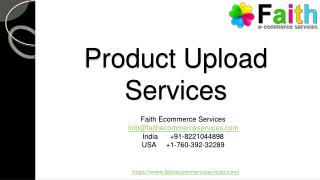 Product Upload Services in India