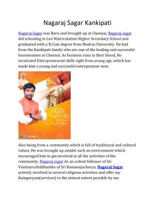 Nagaraj Sagar Kankipati | Nagaraj Sagar | Nagaraj Kankipati