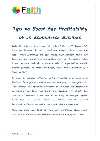 Tips To Boost the Profitability of an Ecommerce Business