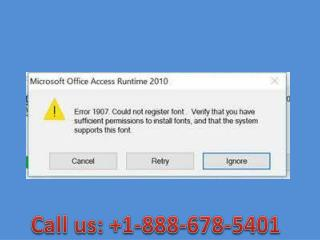 Call  1-888-678-5401 How to fix installation error 1907 -microsoft support