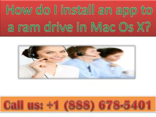 How do I install an app to a ramdrive in Mac Os X?
