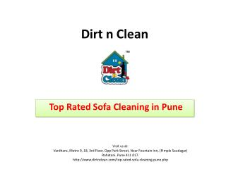 Top Rated Sofa Cleaning in Pune - Dirt n Clean