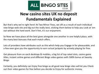 New casino sites UK no deposit Fundamentals Explained