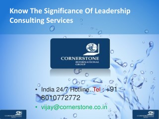 Know The Significance Of Leadership Consulting Services