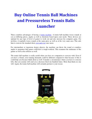 Tennis Ball Machines - Best store to buy in Australia