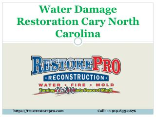Best Water Damage Restoration Cary North Carolina