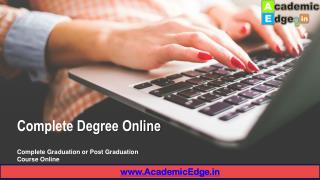 Complete Degree Online From Top Distance Education University in India