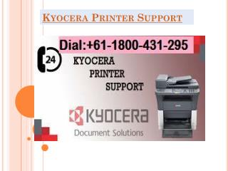 kyocera printer support
