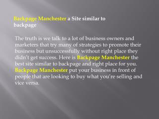 Backpage Manchester  Back page Manchester