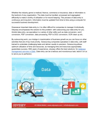 Data Management Services | Data Management Companies In India
