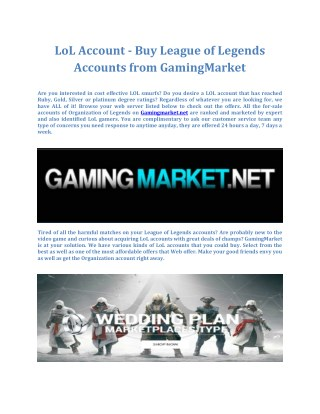 Gaming Market - Sell and Buy Gaming Goods Safely