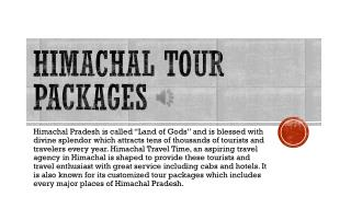 Himachal Tour Packages | Himachal Travel Time