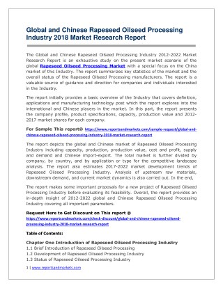 Rapeseed Oilseed Processing 2018-2023  Analysis