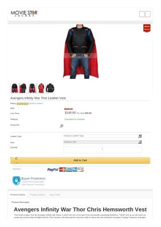 Thor Chris Hemsworth Vest