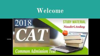 Download CAT Syllabus 2018 PDF - Common Admission Test Exam Pattern 2018