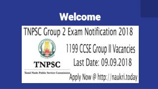 TNPSC Group 2 Exam Notification 2018 - Apply For 1199 Group 2 Vacancies