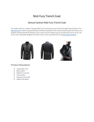 Nick Fury Trench Coat
