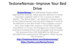 TestoneNemax--Increased Staying Power