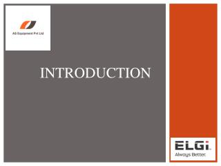 AS Equipment- Authorized Dealer of ELGI Air Compressors