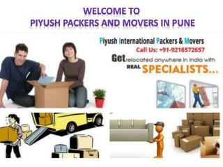 Best Packers Movers in Pune |Maharashtra-Piyush International Packers And Movers