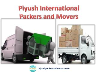Top Packers Movers in Pune |Maharashtra-Piyush International Packers And Movers