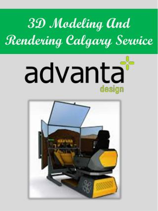 3D Modeling And Rendering Calgary Service