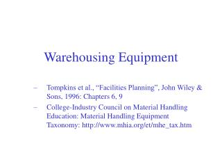 Warehousing Equipment