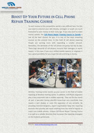 Essential Cell Phone Repair Training Course in New Brunswick