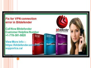 Fix for VPN connection error in Bitdefender