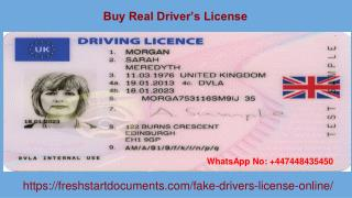 Buy Real Driver's License | Fresh Start Documents