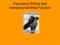 Expository Writing and Interpersonal Meta Function