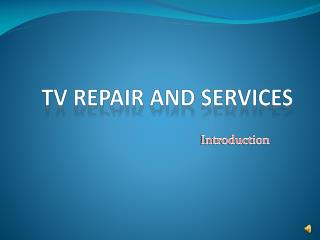 Tv Repair and Service in Hyderabad